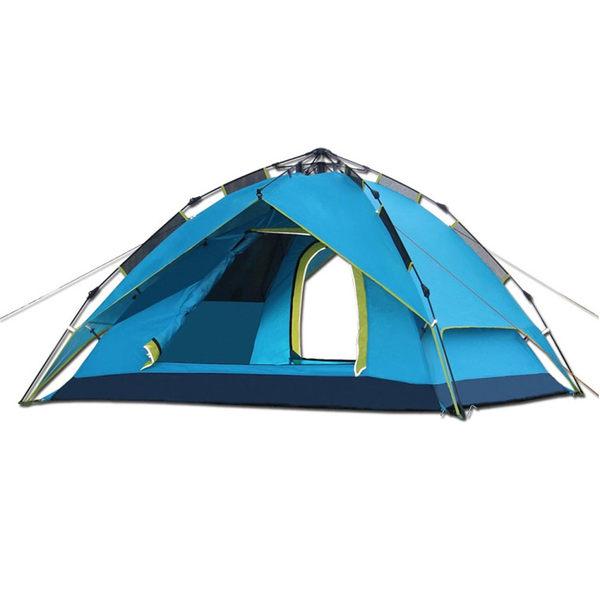 PUSH!戶外休閒登山用品 氣動液壓式3用4人四季專業型帳篷P80