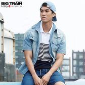 BigTrain薄牛仔襯衫-男-淺藍-M.L.XL