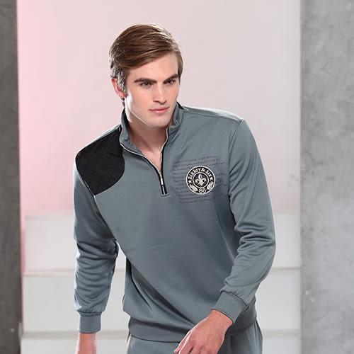 *86精品*灰色立領POLO衫, 簡單輕鬆的設計。【86453-21】