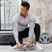 緊身衣男長袖運動T恤速乾衣訓練加絨加厚籃球秋冬季健身衣服套裝 潮流衣館
