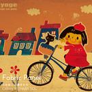 可愛風 布包無框畫 油畫 複製畫 木框 畫布 掛畫 兒童房壁飾【午後騎跡】
