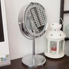 LED燈雙面桌鏡【JL精品工坊】 LED燈 圓鏡 桌鏡 立鏡 鏡子 化妝鏡