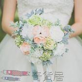 西式新娘手捧花仿真花韓式婚禮婚紗攝影道具小清新森繫【奇貨居】