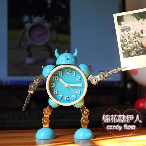 變形機器人創意學生小鬧鐘xx3328【棉花糖伊人】