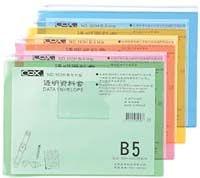 COX B5橫式粉彩透明資料套(NO.163H )