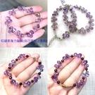 『晶鑽水晶』天然紫水晶搭配橄欖石手鍊 特級鑽石切割~超高淨度~光亮度超優~送禮.禮物~附禮盒