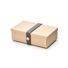 Uhmm Folding No.01 18x10cm 丹麥生活系列 環保折疊式 長方形 午餐盒 - 深灰色束帶款(摩卡色餐盒)