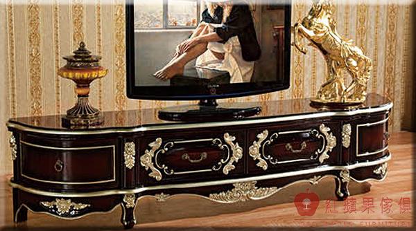 [紅蘋果傢俱] 902 新古典系列 實木雕花 歐式 法式 奢華 電視櫃 TV櫃 工廠直營