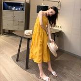 夏季吊帶連身裙衣裙女裝2020年新款潮流行無袖小個子裙子仙女超仙森系 居享優品