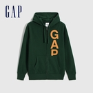 Gap男裝 Logo活力亮色連帽外套 624873-松樹綠