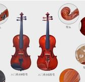 華星提琴入門H繫列 兒童成人初學者手工實木演奏小提愛麗絲精品igo