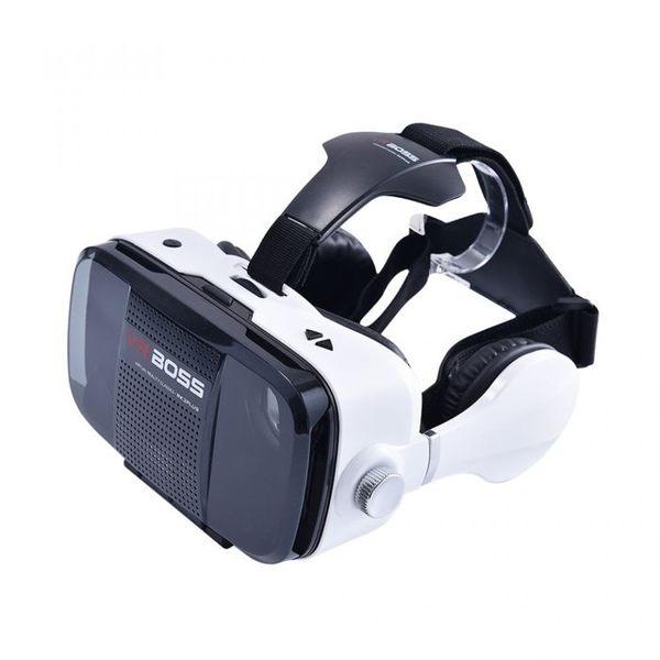 免運 不可拆耳麥裝置  VR BOSS 3D虛擬實境眼鏡 頭戴式3D眼鏡 VR眼鏡 支援 4.7 - 6.2吋