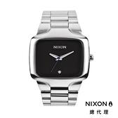 【官方旗艦店】NIXON BIG PLAYER 正裝錶 高階款 銀黑 真鑽 潮人裝備 潮人態度 禮物首選