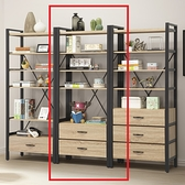【DIY】輕工業風 2.5尺 展示櫃 2抽屜 書架 書櫃收納層架 開放式層架 618購物節