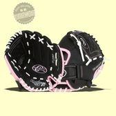 合成皮兒童款投手內場通用棒球壘球手套10英寸 交換禮物