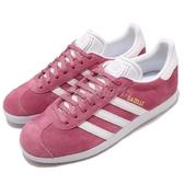 【五折特賣】adidas 休閒鞋 Gazelle W 粉紅 白 麂皮 金標 運動鞋 女鞋【PUMP306】 B41658