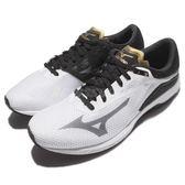 美津濃 Mizuno Wave Sonic 白 黑 輕量透氣 舒適緩震 慢跑鞋 運動鞋 男鞋【PUMP306】 J1GC173452
