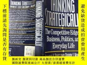 二手書博民逛書店英文原版罕見think strategically: the competitive edge in busine