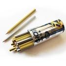 【義大利 GIOTTO】518000  MEGA 六角胖金銀色鉛筆(24支)附筆筒 /筒