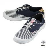 Palladium 新竹皇家 VOYAGE 旅行系列 藍色 布質 線條 低筒 休閒鞋 女款 NO.I7726