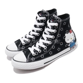Converse Chuck Taylor All Star x Hello Kitty 黑 紅 滿版圖騰 限量款 童鞋 中童鞋 運動鞋【PUMP306】 363920C