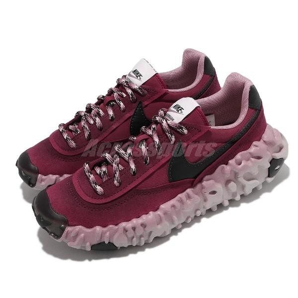 Nike 休閒鞋 Overbreak SP 酒紅 莓紅 黑 麂皮 避震中底 特殊配色 男鞋【ACS】 DA9784-600