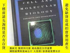 二手書博民逛書店Cell罕見And Molecular Biology: Concepts And Experiments 附光盤