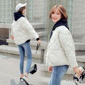 中大尺碼 輕薄棉衣女短款韓版寬鬆面包服冬季新款棒球服bf學生外套 js16292『miss洛羽』