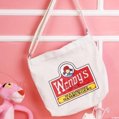 韓版新款單肩包女包學生斜挎帆布袋潮簡約百搭夏天小包包