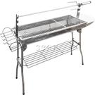 戶外不銹鋼烤羊腿爐子烤肉叉燒烤架家用具烤羊排野外燒烤爐烤肉架