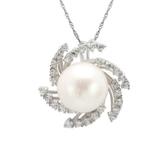 項鍊 925純銀珍珠吊墜-流行典雅生日情人節禮物女飾品73dk468【時尚巴黎】