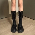 馬丁靴 2021春夏季款透氣厚底中筒馬丁靴女長筒騎士靴小腿靴子【新品狂歡】
