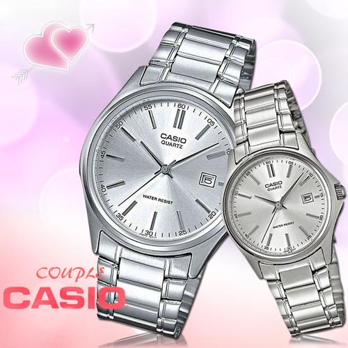 CASIO卡西歐 手錶專賣店 MTP-1183A-7A+LTP-1183A-7A 簡約設計對錶 約時尚指針 礦物防刮玻璃 不鏽鋼錶帶