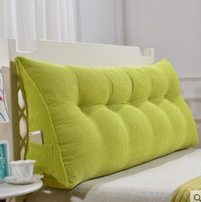 ( 促銷95折 ) 三角靠墊 榻榻米靠枕 雙人床頭軟包 床上大靠枕 床靠背 可拆洗【120cm(4扣)】