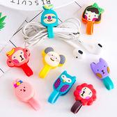 【BlueCat】韓風Hello怪胎動物扣式MP3耳機捲線器 / 集線器 / 繞線器