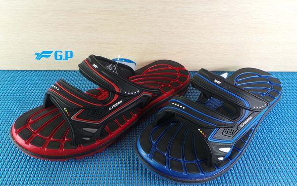 GP 休閒涉水涼拖鞋 溝朝排水拖鞋 #G8546-14黑紅 -20藍色
