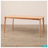 ◎實木餐桌 N COLLECTION T-01 165 NA 櫸木 NITORI宜得利家居