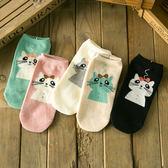 韓版可愛卡通直板天線貓女船襪 全棉短襪 襪子《小師妹》yf630