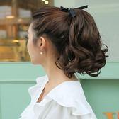 假髮 假髮女中長髮短馬尾綁帶式假馬尾女士假髮馬尾短款大波浪馬尾假髮 伊蘿鞋包精品店