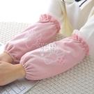 交換禮物買一送一季防污袖套女可愛學生韓版成人辦公套袖中長款防塵護袖