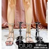 羅馬涼鞋2021年新款女平底高筒外穿低跟法式仙女氣質水鑚銀色【全館免運】