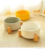 貓碗狗碗狗盆實木架喝水貓食盆陶瓷貓咪碗狗狗小型犬飲水寵物用品