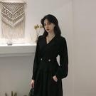禮服 法式炸街氣質赫本風小黑裙設計感小眾輕奢高端小禮服連衣裙女春裝【快速出貨八折下殺】
