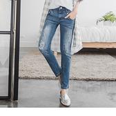 OB嚴選色彩斑點刷白破損造型牛仔直筒褲--適 S~XL《BA2234-》