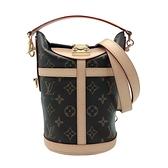 【台中米蘭站】Louis Vuitton DUFFLE 帆布手提/肩背二用包(M43587-咖)