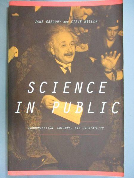【書寶二手書T9/科學_YFN】Science in Public: Communication, Culture, a