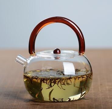 耐熱燒水茶壺煮茶壺耐高溫玻璃提梁壺電陶爐煮水茶壺明火玻璃水壺