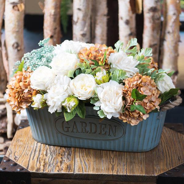 模擬花假花 套裝 花藝 客廳餐桌 裝飾花 花瓶花束 -bri02053