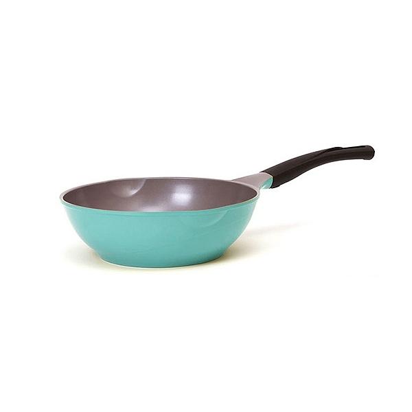 韓國CHEF TOPF La Rose 玫瑰鍋 炒鍋(無蓋)26cm藍色【小三美日】※限宅配 不沾鍋