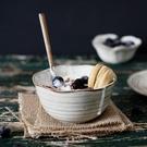 甜品碗日式陶瓷餐具飯碗家用吃飯湯碗面碗沙拉碗創意兒童碗甜品碗-凡屋